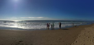 beach wide angle with people at distance