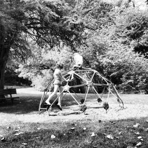 bxw kids on geodesic dome on ground
